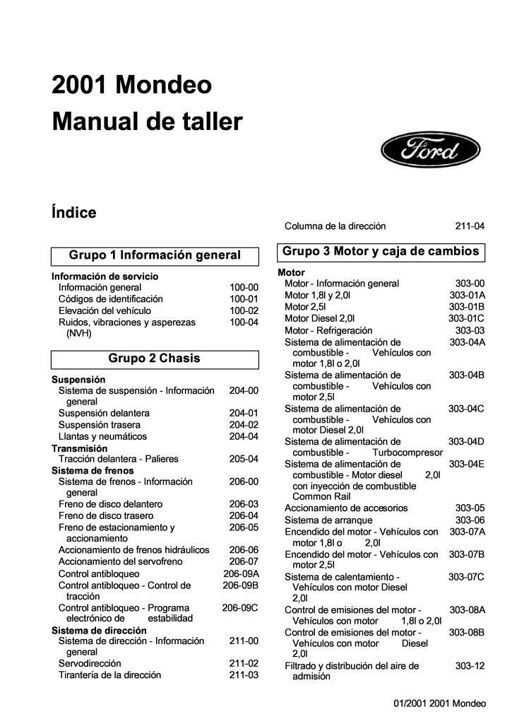2001 mondeo service manual espanol.PDF (28.1 MB)