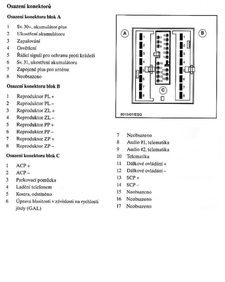 Schema Collegamento Autoradio Ford 6000 Cd : Autorádio záměny výměny ovládání zapojení apod str